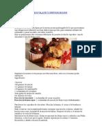 Cupcakes de Chocolate y Frutos Rojos