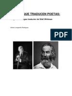 Poetas Que Traducen Poetas Borges Traductor de Whitman