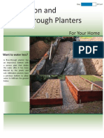 Infiltration and Flow Through Planters for Droughts