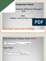 Aplikasi Java Dan MySQL PLN (Lanjutan)