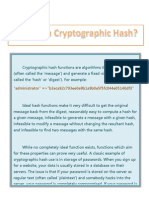 Simple Starters Guide to Cryptographic Hashes