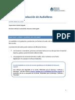Guía Para La Producción de Audiolibros