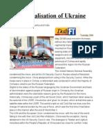The Federalisation of Ukraine
