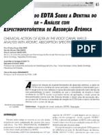 Ação Química Do EDTA Sobre a Dentina Do Canal Radicular - Análise Com Espectrofotometria de Absorção Atômica