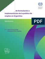 Politica de Empleo en Argentina