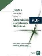 Lectura 14 - Tutela resarcitoria. Incumplimiento Obligacional (2).pdf