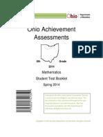 2014 Mathematics OAA