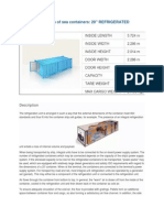 Parameters of Sea Containers
