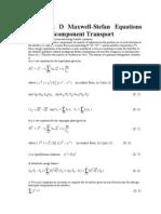 maxwell stefan equation