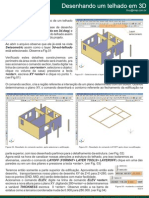 AutoCAD 3D - Como desenhar um telhado em 3d
