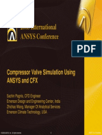 Compressor Valve Simulation Using ANSYS and CFXValve