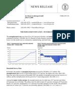 Unemployment Data Released November 6 2009