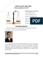 The Appellate Record, February/March 2014