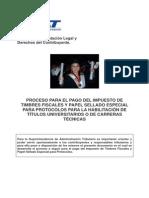 01 Impuesto Al Timbre Para La Legalizacion de Titulos