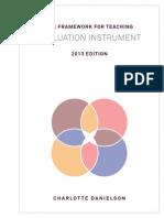 2013 Evaluation Instrument