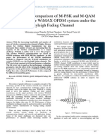 Performance Comparison of M-PSK and M-QAM Modulations for WiMAX OFDM system under the Rayleigh Fading Channel