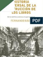 Historia Universal de La Destrucción de Libros