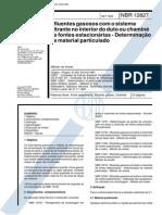 213230312 NBR 12827 1993 Efluentes Gasosos Com o Sistema Filtrante No Interior Do Duto PDF