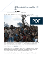 5 Years Today - IDP Death Toll Rises, Call for UN War Crimes Probe