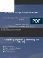 MLIM6316 Organizing Information Presentation