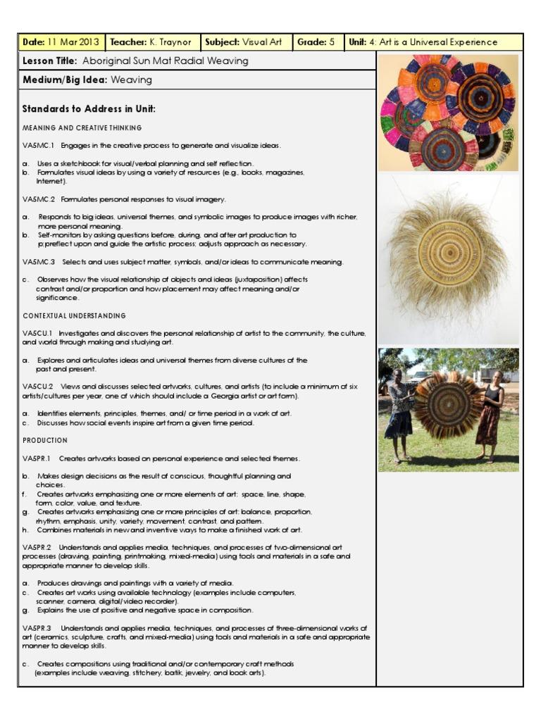 5 Th Aboriginal Weaving Lp | Weaving | Composition (Visual Arts)