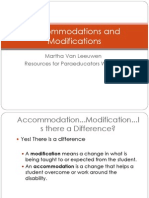 Accommodation and Modification