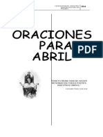 Oraciones Primaria Abril
