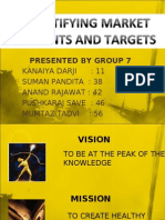 Indentifying Market Segments and Targets1