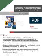 Los Escenarios Accidentales y Los Estudios de Consecuencias y Vulnerabilidad en Los Analisis de Riesgos de Procesos de La ASP 28psm29 Congreso Final Pres 2