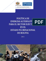 Politicas Energias Alternativas 2011
