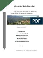 Situación Demográfica y Epidemiológica del Municipio de San Mateo Rio Hondo, Oaxaca 2013