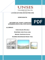 Situación Demográfica y Epidemiológica del Municipio Sitio Xitlapehua, Oaxaca 2013