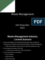 Waste Management Aditi Nargundkar MICA