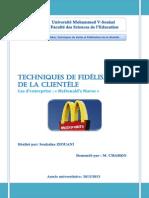 Soukaina Ziouani-rapport Techniques de Fidélisation