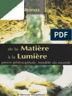 De La Matiere a La Lumiere