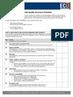 Website Quality Assurance Checklist