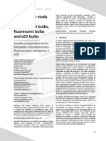 Comparative Study of Bulbs Incandescent Bulbs Fluorescent Bulbs and LED Bulbs