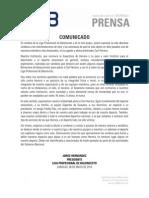 Lpb Comunicado 06-05-2014