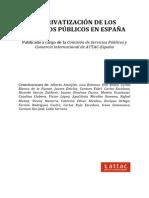 La Privatizacion de Los Servicios Públicos en España