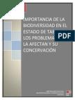 Importancia de la biodiversidad en el estado de Tabasco, los problemas que la afectan y su conservación