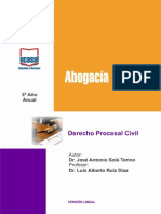 3o Ano - Do Procesal Civil Ugs, Led, Oran, Tart, Sanp, Metan, b.b