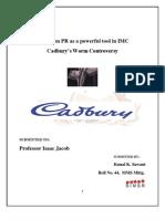 Kunal K. Sawant - PR a Powerful Tool in IMC - Cadbury Worm Controversy - MMS Mktg.