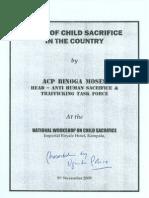 Child Sacrifice - Uganda Police Report [5 November, 2009]