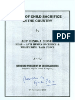 Child Sacrifice - Uganda Police Report [5 November, 2009]