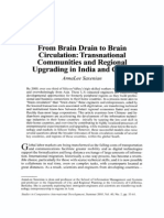 From Brain Drain to Brain Circulation Transnational Communities and Regional Upgrading in India and China