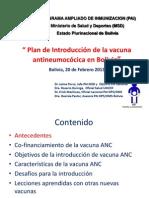 Plan de Introduccion Vacuna ANC BOL