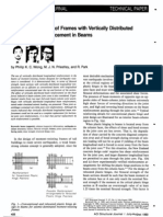 Seismic Resistance of Frames With Vertically Distributed Longitudinal Reinforcement in Beams