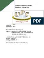 68415088 Guia Metdologica Metodos y Tecnicas de Investigacion