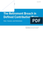 Retirement Breach In Defined Contribution Plans (from HelloWallet)