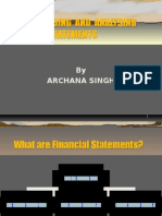 Understanding and Analysing Financial Statements